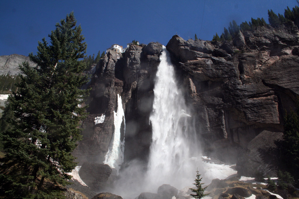 At 365 feet, Bridal Veil Falls is the tallest free falling waterfall in Colorado. - © Terry Foote