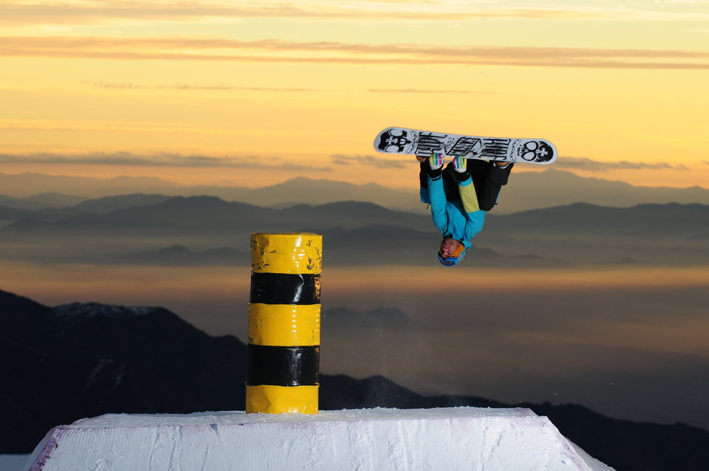Snowboarder at El Colorado, Chile.  - ©El Colorado Tourism