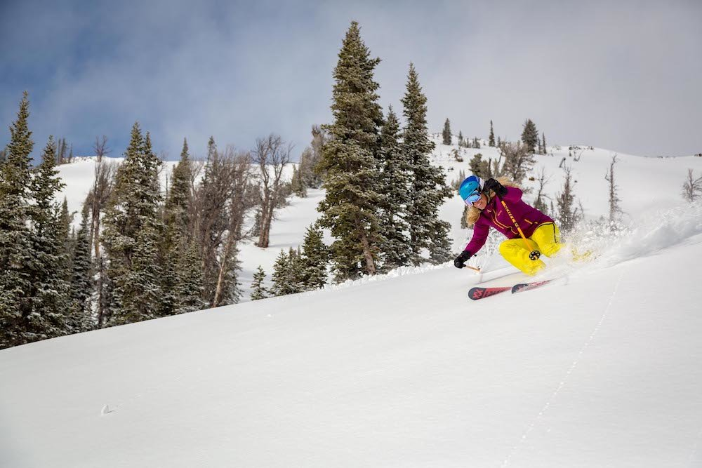 With snow like this on opening day it's hard not to smile. - © Jackson Hole Mountain Resort