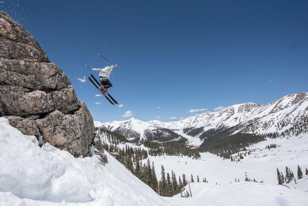 Sending it on the East Wall (credit: Rachel Bock) - © Arapahoe Basin Ski Area (Adrienne Saia Isaac, Communications Manager)