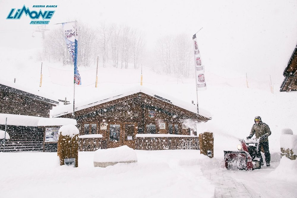 Limone Piemonte, nevicata 1-2-3 Dicembre 2017 - © Ph: Simone Mondino per Limone Riserva Bianca Facebook