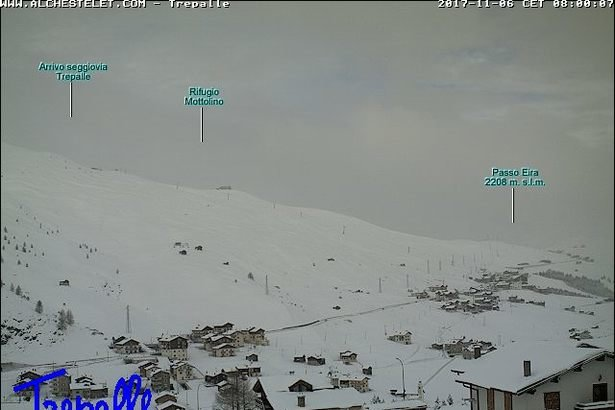 E' arrivata la prima neve a Livigno - © Webcam - Skiinfo.it