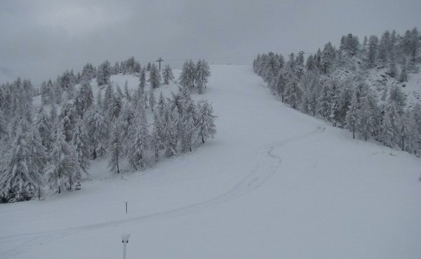 E' arrivata la prima neve a Marilleva - © Webcam - Skiinfo.it