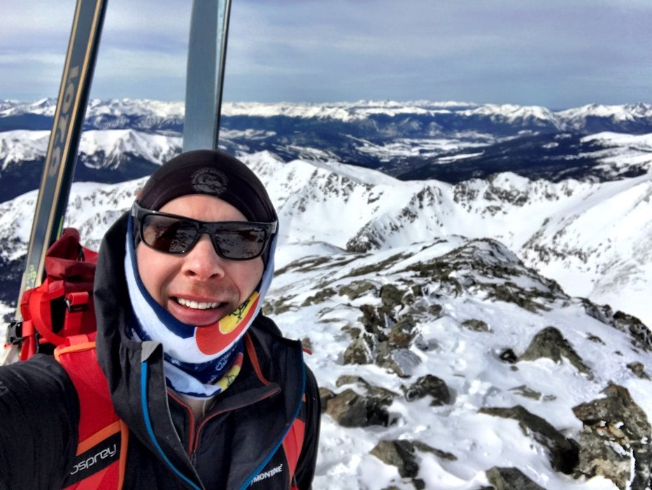 Ski mountaineering with Chris Tomer. - © Meteorologist Chris Tomer