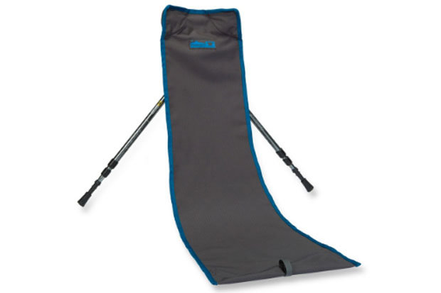Mountainsmith Slingback Chair: $24.95 The Slingback is a minimalist's dream, weighing in at 4.75 ounces. Simply unroll the chair from its storage pouch, extend the telescoping trekking poles and have a seat.