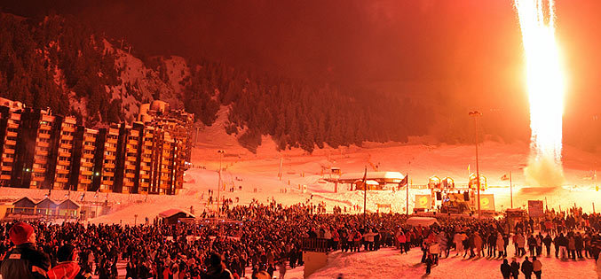 New Year celebrations in La Plagne, France