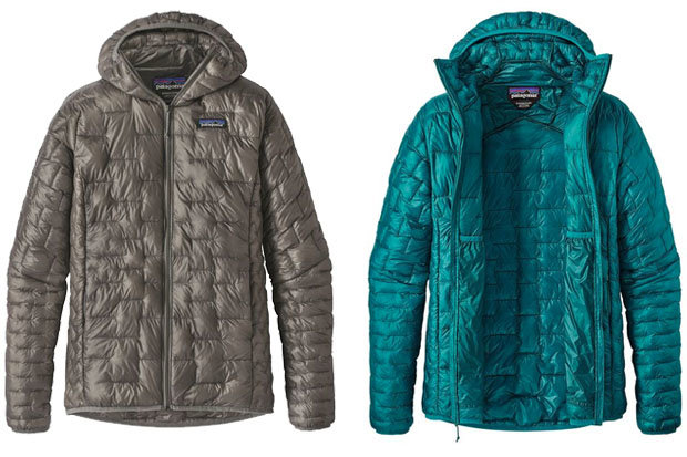 Patagonia Women's Micro Puff Hoody: $299 The Micro Puff Hoody offers Patagonia's best warmth to weight ratio of any jacket they've built. Aside from being packable and ultra lightweight, the Micro Puff offers a water resistant, DWR shell and zippered handwarmer pockets.
