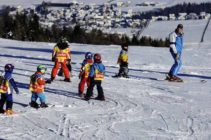 Kronplatz je ráj pro začínající lyžaře