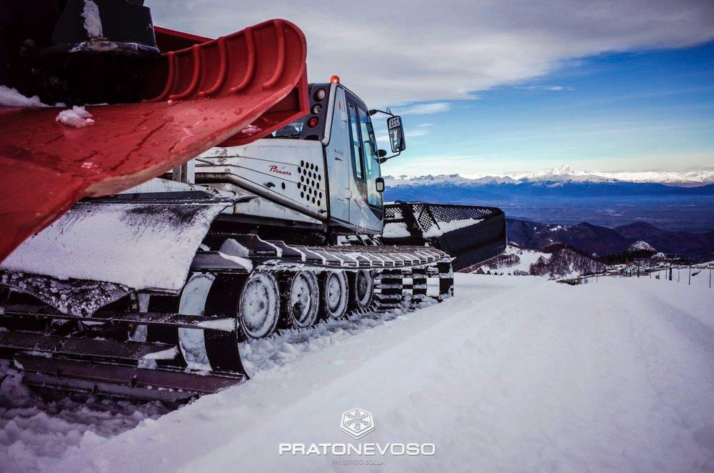Monte Amiata, nevicata del 13.11.17 - © Prato Nevoso Ski Facebook