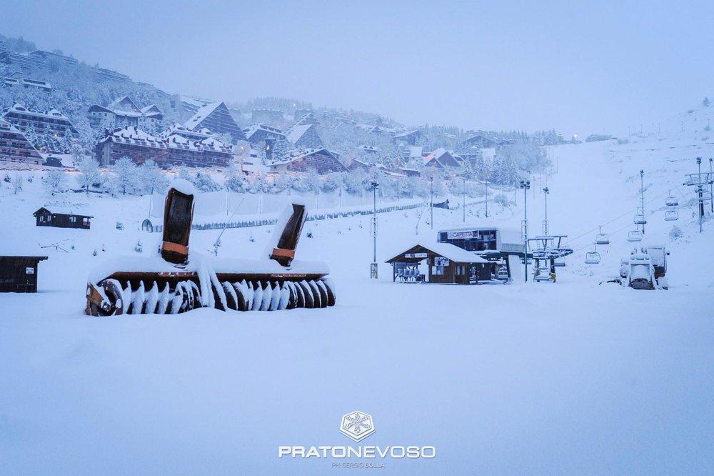 Neve fresca a Prato Nevoso 06.11.17 - © Prato Nevoso Ski Facebook