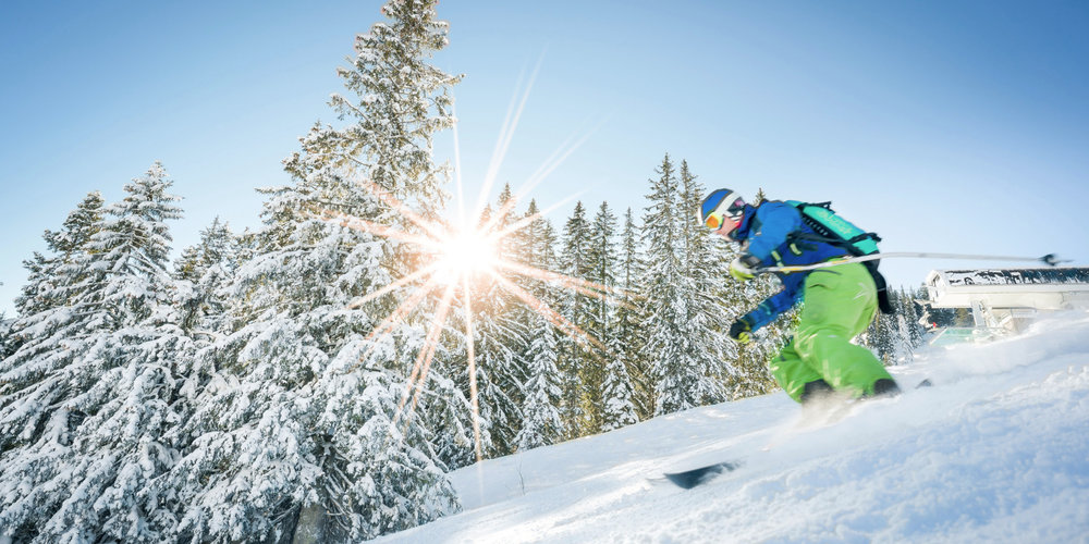 Skifahrer im Skigebiet Spitzingsee - © Alpenbahnen Spitzingsee | Dietmar Denger