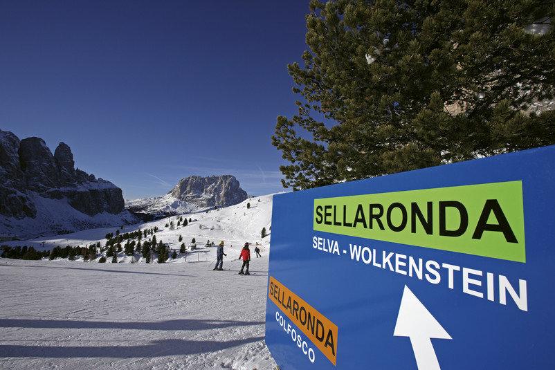 Die Sella Ronda bietet 40 Kilometer Skispaß - © IDM Alto Adige/Frieder Blickle