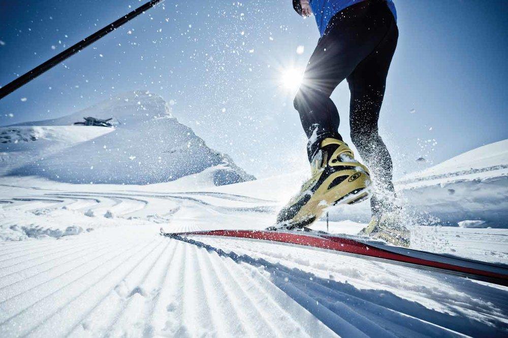 Langlaufen auf dem Gletscher - © Ideenwerk Werbeagentur