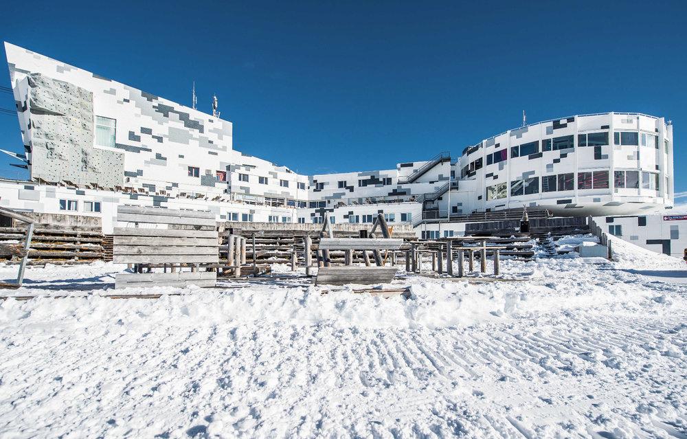 Die neue Bergbahnstation GALAAXY von Außen - © Credit_Weisse Arena Gruppe_Ammann