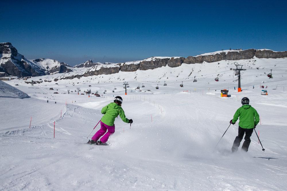 Skifahrer im Skigebiet Melchsee-Frutt - © Melchsee-Frutt | Philipp Schmidli