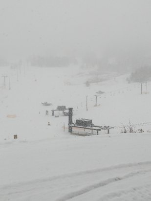 "Ski Granby Ranch - Snow started approximately 6:30am and has been coming fast. 4-10"" anticipated for the day, 3-6"" tomorrow.   - © anonymous"