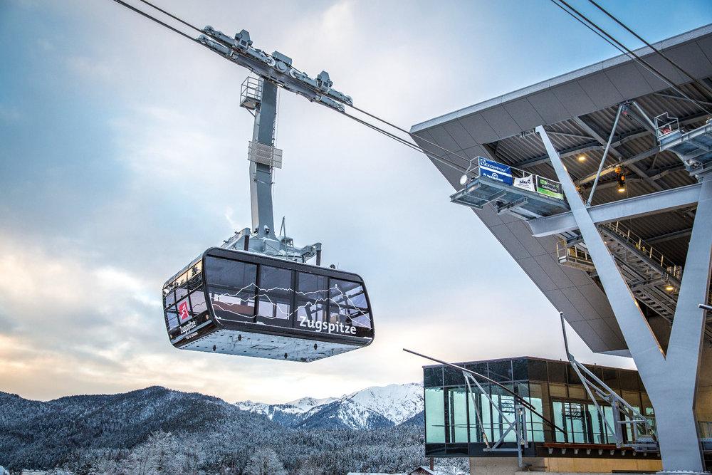 Nová lanová dráha na Zugspitze - © © Bayerische Zugspitzbahn Bergbahn AG/Max Prechtel