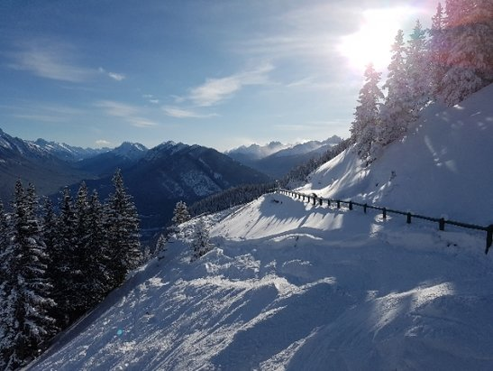 Mt. Norquay - Skied here Dec 23rd, lots of fresh powder under the Norquay chair, groomers we also nice. Runs not groomed we're unskiable.  - © jdonaher1