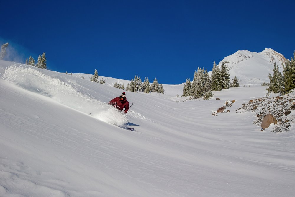 Mt. Hood Meadows rooster tail. - © Mt. Hood Meadows
