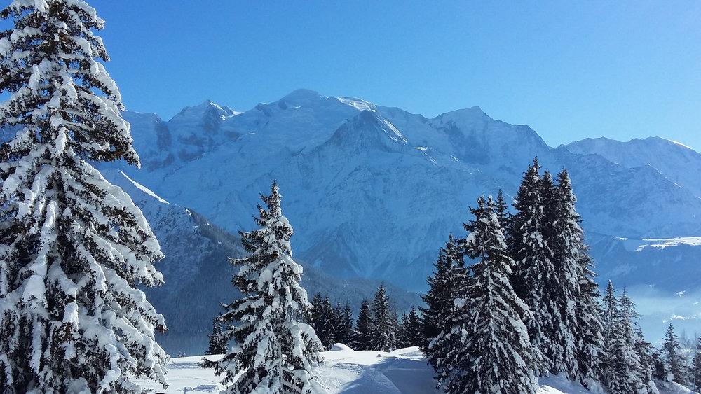 Ambiance hivernale et paysages somptueux sur le domaine skiable de Passy Plaine JOux - © OT de Passy