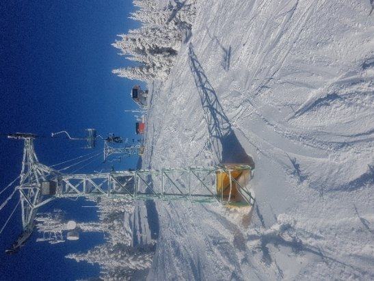 SilverStar - wow. great snow all day. line ups worth it. blue bird afternoon  - © anonymous