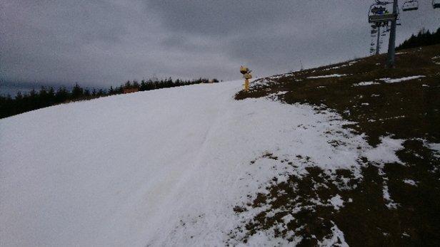 Skipark Oravice - svah je upravený, pre nenáročného lyžiara v pohode. - © rbk