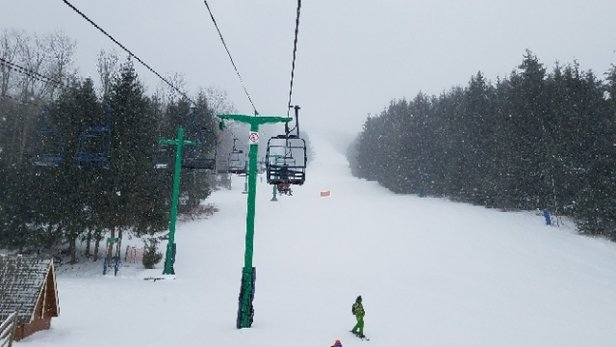Elk Mountain Ski Resort - Wild day today. First time up at Elk. Did the greens with the Mrs since she is newer to skiing. Good times nice conditions, Tioga was an enjoyable run to do together.  - © Tom C