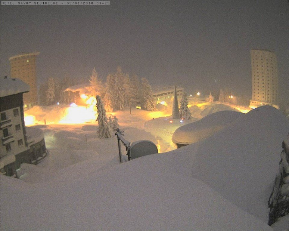 Sestriere 09.01.18 - © Sestriere webcam