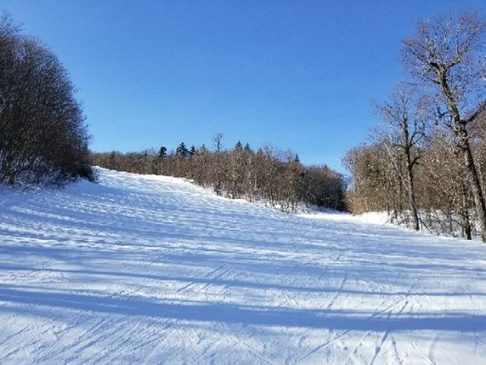 Okemo Mountain Resort - Bluebird sky, 26 degrees, perfect snow conditions, no lines, excellent music at the lifts. I love Okemo's wide beautiful trails.  Perfect day.  - © ChrisN