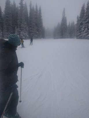 Winter Park Resort - unexpectedly kept snowing nearly all day on the mountain. fresh powder. lift lines were a bit long but that is to be expected. Great conditions today - © anonymous