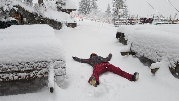 Avoriaz - loads of snow .... poop visibility tho :( - © Peet the boarder