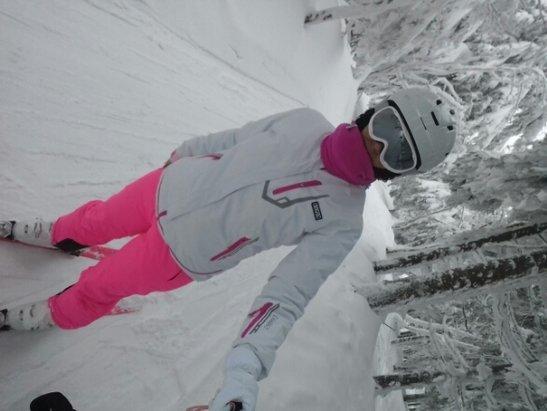 Zieleniec Ski Arena - muldy od samego rana. duża mgła i dużo sniegu. bez łańcuchów bardzo trudno wjechać do zielenca - © lidser2807