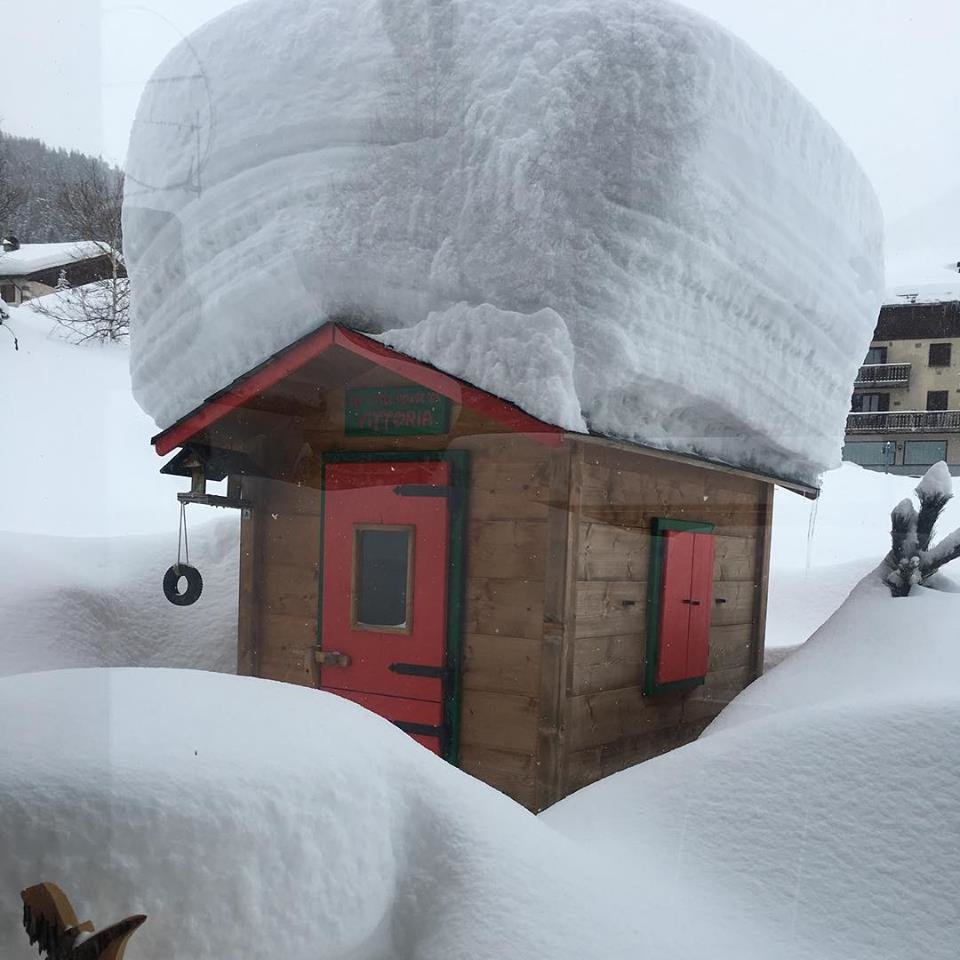 Livigno 22.1.2018 - © facebook Italia Live Meteo / Photo by Maurilio Giacomelli