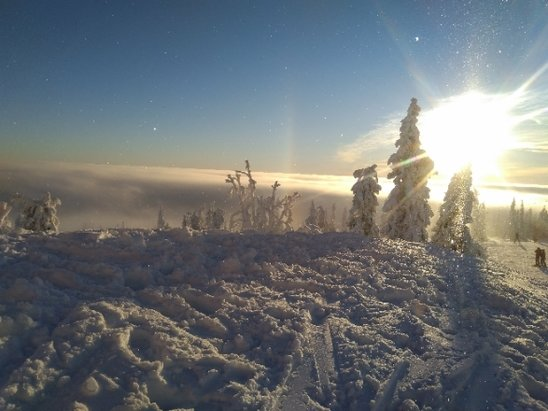 Trysil - foggy and windy on the top but absolutely stunning! superb conditions on the slopes with plenty of powder :) - © E&L