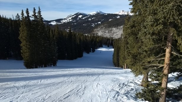 Copper Mountain Resort - Skied here on the 18th. Packed powder on all the groomed slopes. They were great conditions for cruising. - © Robert C Boston
