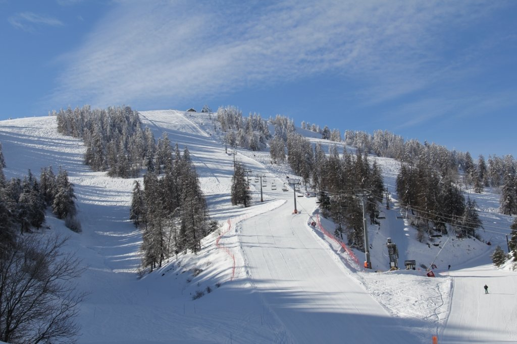 Vue sur le domaine skiable de La Colmiane - © Station de ski de la Colmiane