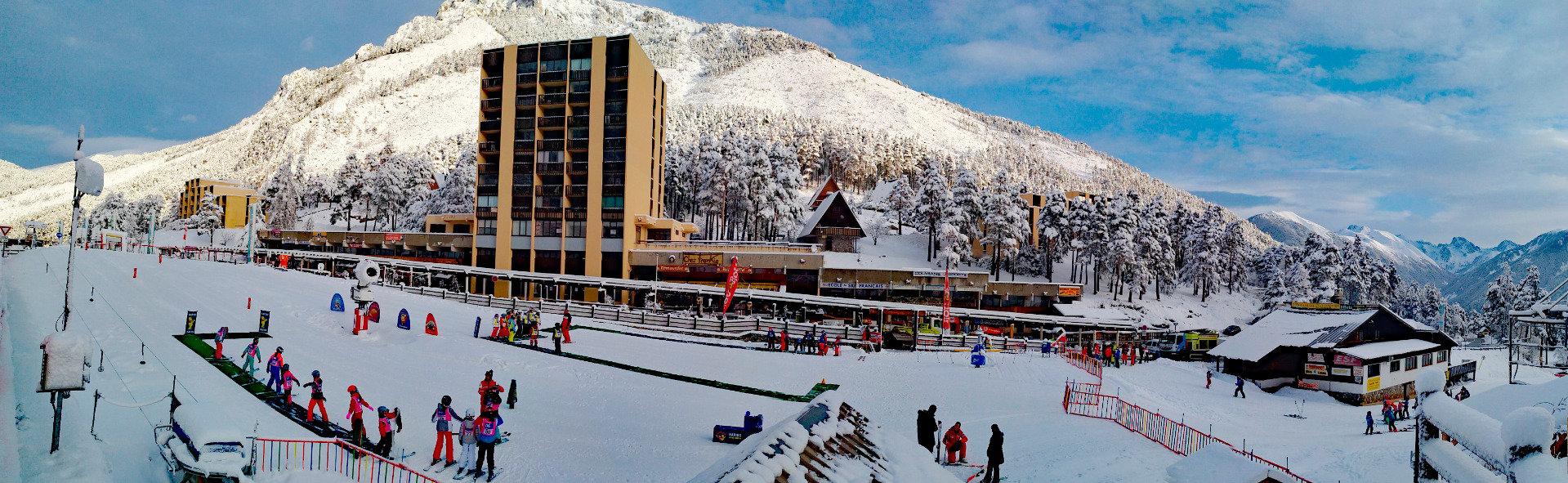 Le front de neige de La Colmiane - © Station de ski de la Colmiane