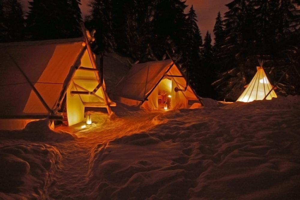 Soirée atypique à vivre autour d'un feu de camp au coeur de la nature au Mont Saxonnex - © Altipik