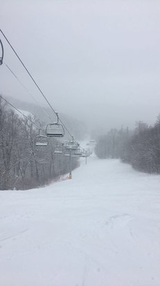 Stratton Mountain - Good lord it was deep out there today boys. Buckle up for Wednesday. Storm's a brewin! - © Stratton Mountain Air Fo