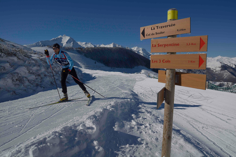 Sur les pistes de ski de l'espace nordique du Val d'Azun - © Espace nordique du Val d'Azun
