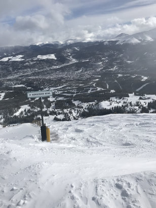 "Breckenridge - Epic powder day - don't know where Breck is showing 3""???   It was well over a foot of fresh in many places.   - © Dave Briggs's iPhone"