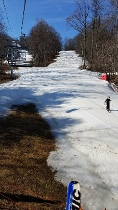 Bear Creek Mountain Resort - It's white and we're sliding. Going to 78 today. Wow. February.  - © ChoochCharlie
