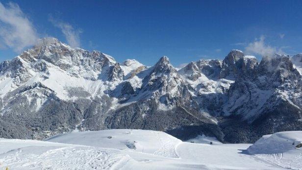 San Martino di Castrozza - Passo Rolle - neve splendida, ma tanto freddo...in quota -14. ora tornano le nuvole... - © daniela