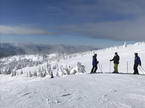 Big White - Epic day at Big White. Pow was deep and dry. - © Dad's iphone