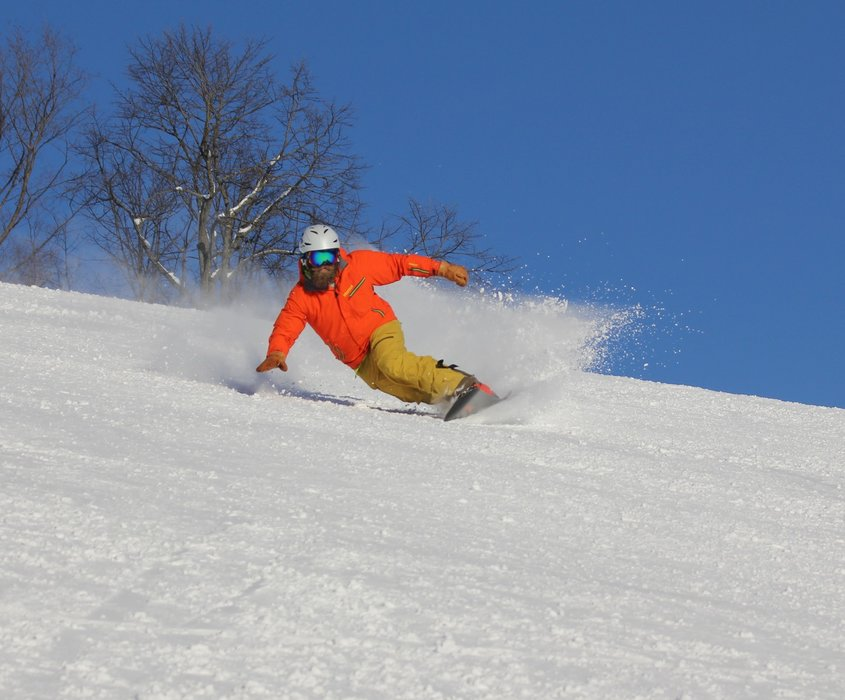 Fresh lines on a bluebird day at Crystal Mountain, Michigan. - © Crystal Mountain, Michigan