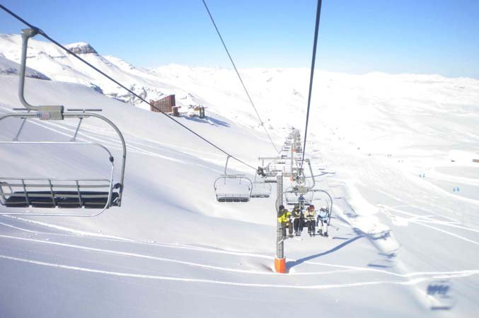 First tracks at Valle Nevado, Chile - ©Valle Nevado