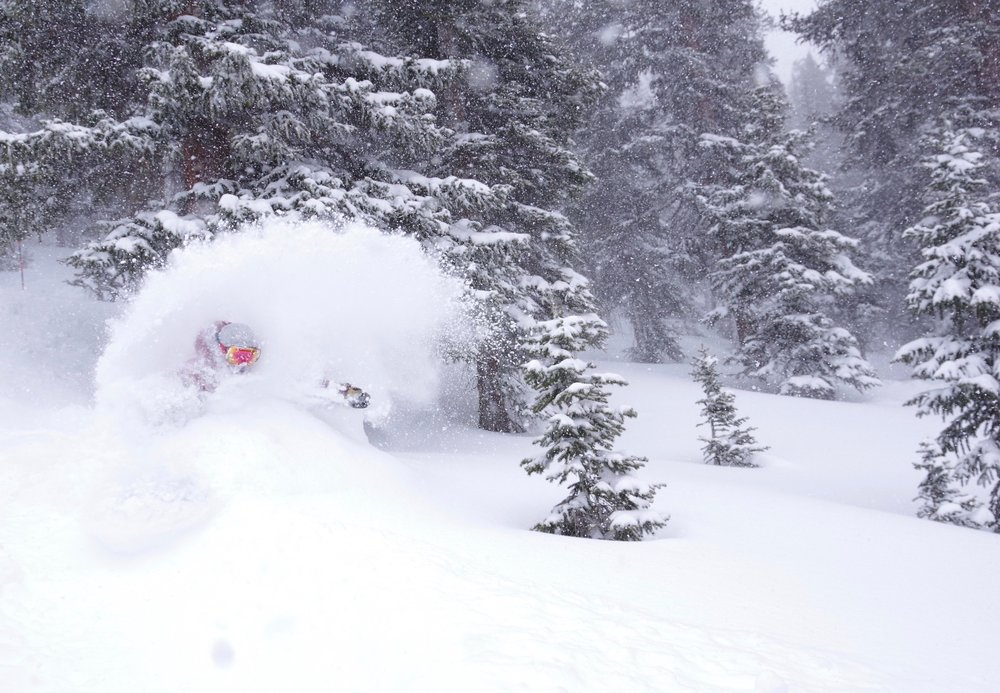 "17"" in 48 hours and still nuking at Loveland January 12th. - © Dustin Schaefer"