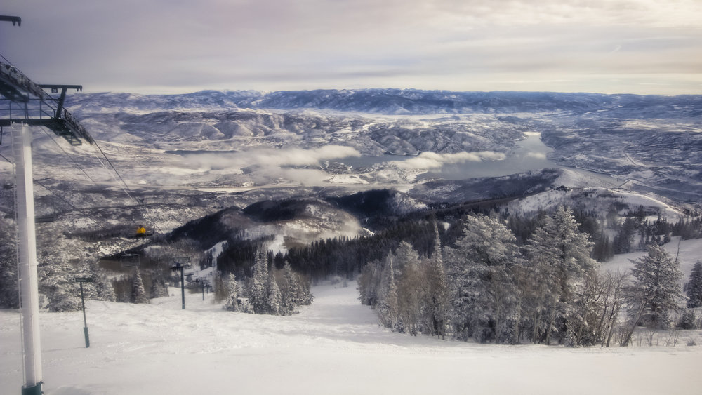 The pristine views from Deer Valley on a cloudy January day. - © Deer Valley Resort