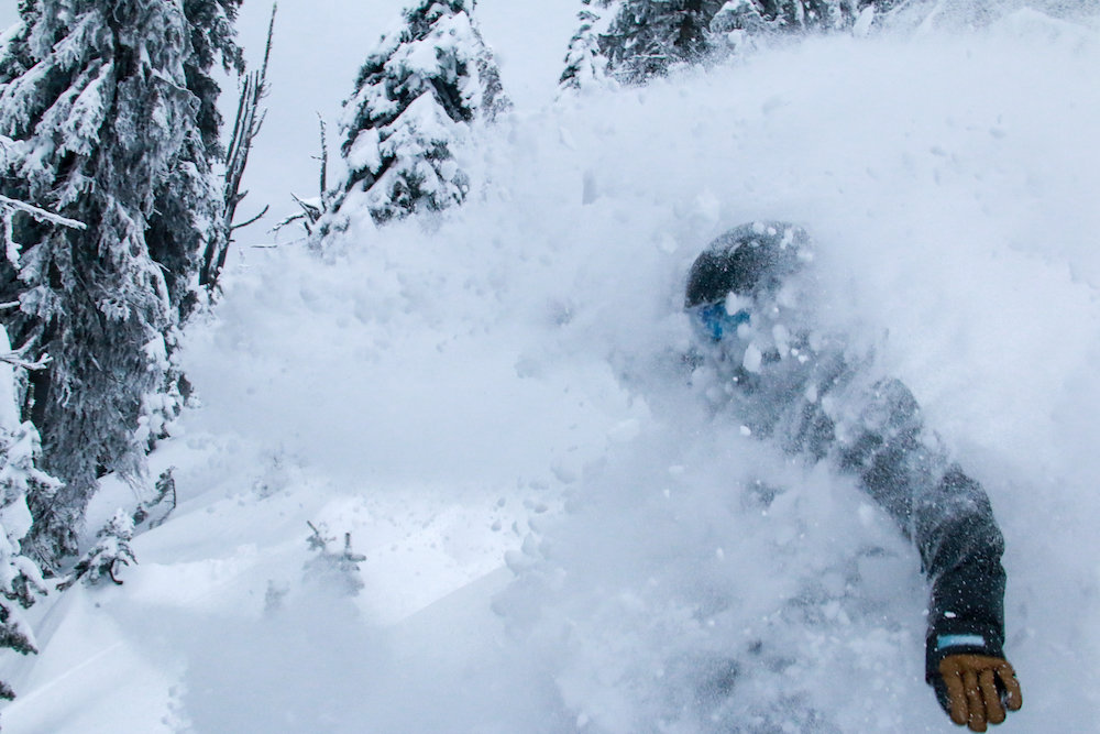 Face shots at Whitefish. - © Whitefish