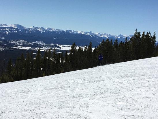 Discovery Ski Area - Bluebird corduroy kinda day. Sweet. - © Kim's iPhone